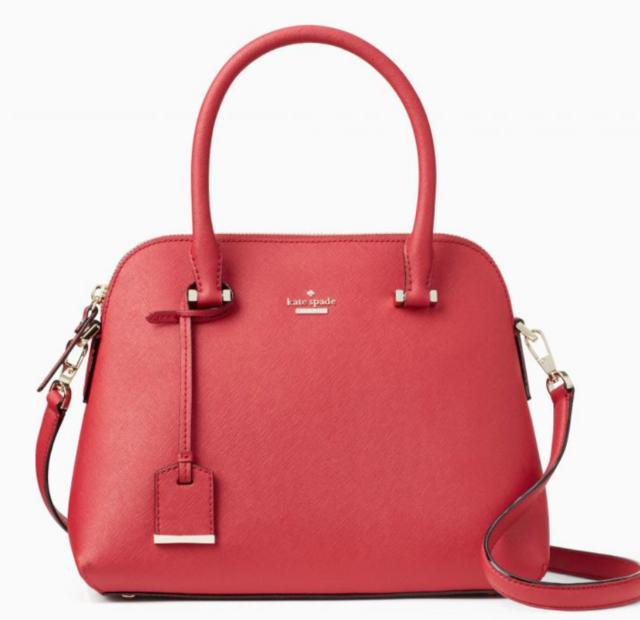Kate Spade Cameron Street Maise Satchel Shoulder Bag Handbag Rosso Red New Nwt