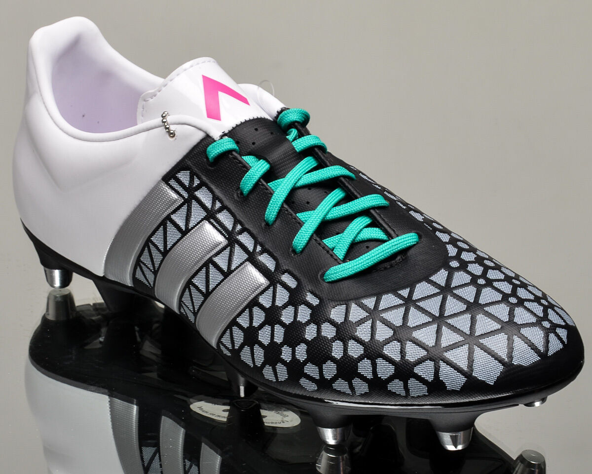 adidas ACE 15.3 SG homme  soccer  chaussures  cleats NEW  noir   Blanc  AF5189