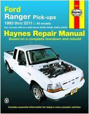 HAYNES REPAIR MANUAL FORD RANGER & MAZDA PICK UP'S 1993-2011 #36071