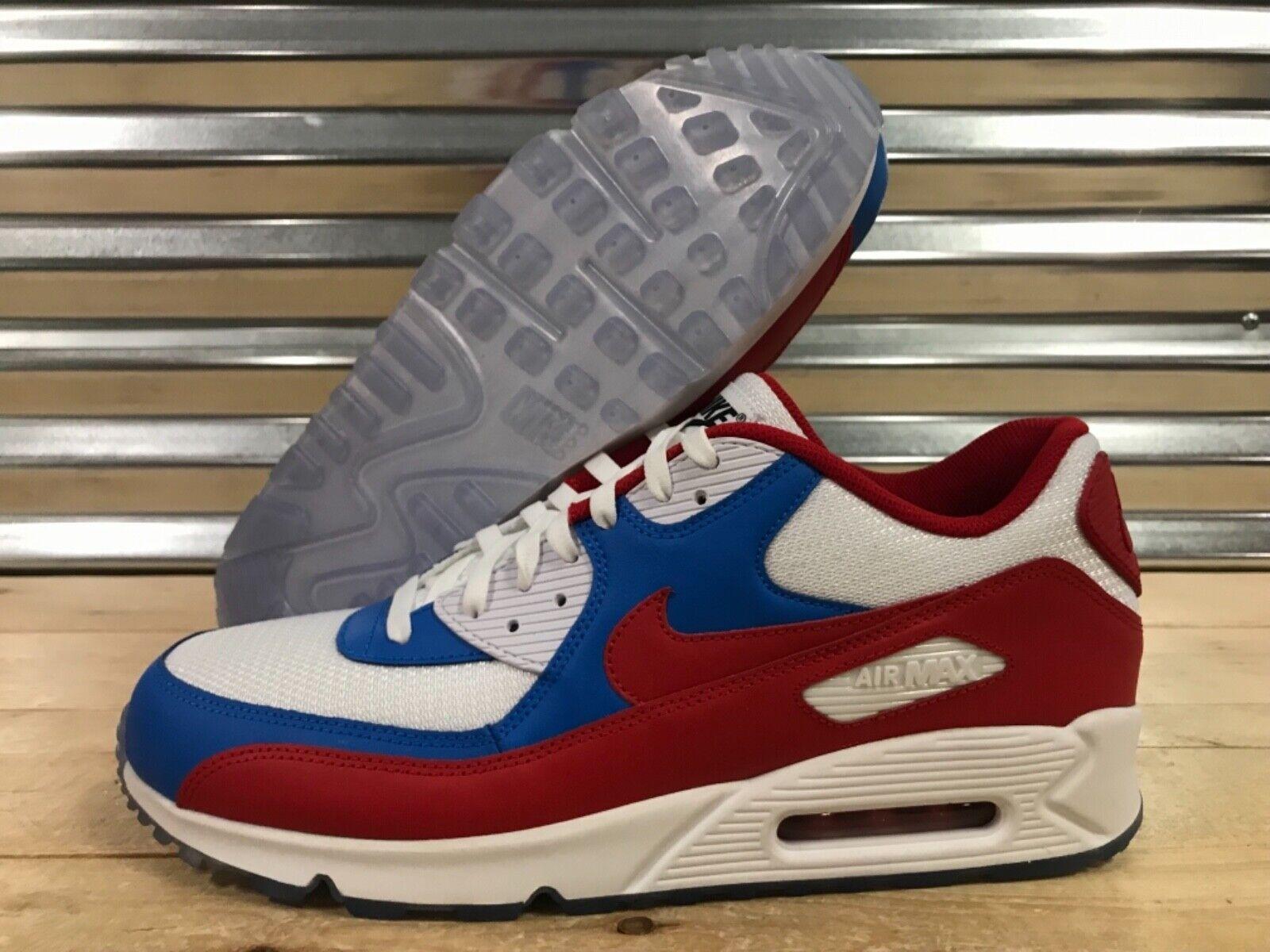 Nike Air Max 90 iD Running shoes White Red blueee USA SZ 15 ( BQ8747-991 )