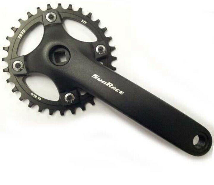 Sunrace FCM800 Chainset Crankset 36T Narrow Wide Chainring Mountain Bike MTB