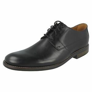 llano Becken para formales zapatos cuero de Clarks cordones con hombre negro TBvpq