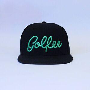 0d992c062e605 Golf Hat Cap Hat SnapBack Flat bill Brim Baseball Visor Golfer PGA ...