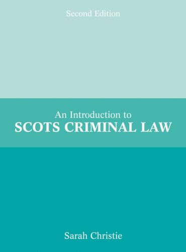 1 of 1 - Introduction to Scots Criminal law; Paperback Book; Christie Sarah, EPELE