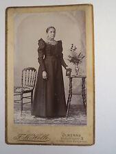 Ilmenau - stehende Frau im Kleid / CDV