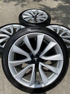 19'' Inch Tesla 3 Model Rims Tires Wheels With OEM Read ...