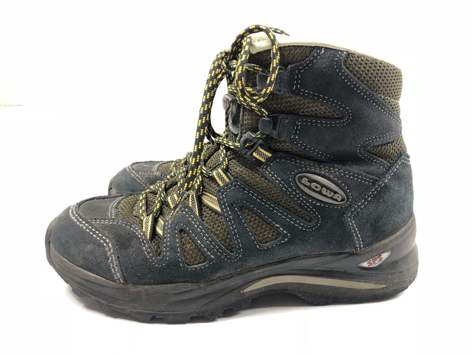 Lowa Women's Jannu Mid Vibram Trekking Hiking Boots bluee Size 6