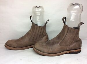 #5 VTG MENS BED STU CASUAL LEATHER BROWN BOOTS SIZE 10.5 D