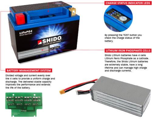 KAWASAKI KLX 450 R 08/>11 Shido Lithium ION Battery LTZ7S-LION