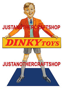 Dinky-Toys-Vintage-1950-039-s-Large-A3-Size-Poster-Shop-Display-Sign-Advert