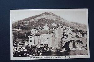 Postcard-Antique-CPA-Bridge-of-Mount-Green-le-Grand-Bridge-And-the-Clock