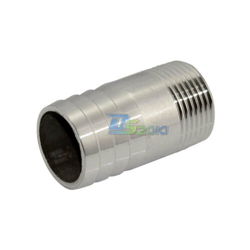 """Male Thread Pipe Fitting x Barb Hose Tail Connector 304 Stainless steel 1//2/""""-2/"""""""