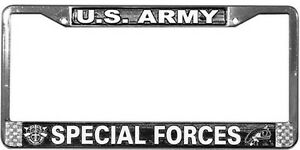 US-ARMY-SPECIAL-FORCES-HIGH-QUALITY-METAL-LICENSE-PLATE-FRAME-MADE-IN-THE-USA