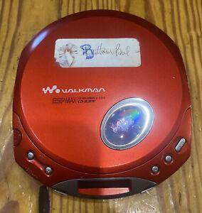 Sony Walkman D-E350 ESP Max Portable CD Player - Red