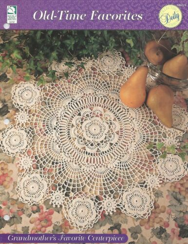 Grandmother/'s Favorite Centerpiece Doily Crochet Pattern Old-Time Favorites
