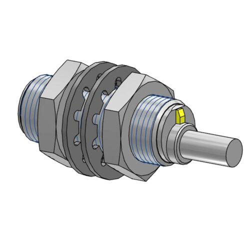 BALLUFF BES M12MD-PSC40B-BP02-003 BES00E5 Inductive Standard Sensors PNP New.