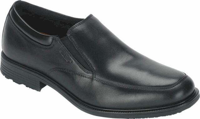 Rockport Bike Slip On Mens Leather Formal Shoes Black