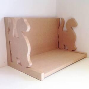 SH32 Ballerina Shelf Routered 18mm MDF Quality Flat packed Wooden Shelf