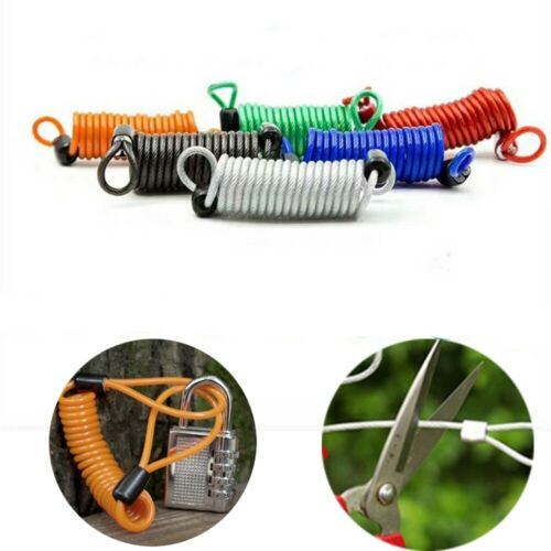 High Quality Spring Cable locks Anti-theft rope Disc Brake Bag Alarm Disc lock
