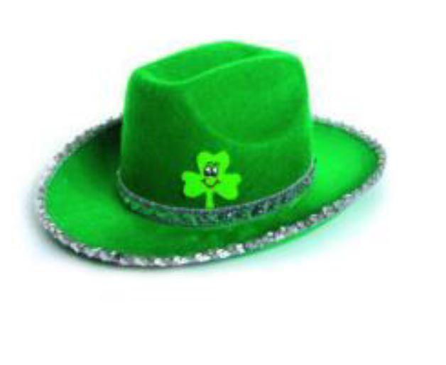 Irish St Patricks Day Unisex Shamrock Cowboy Hat Fancy Dress Party Costume  for sale online  0d8fa3d0f8de