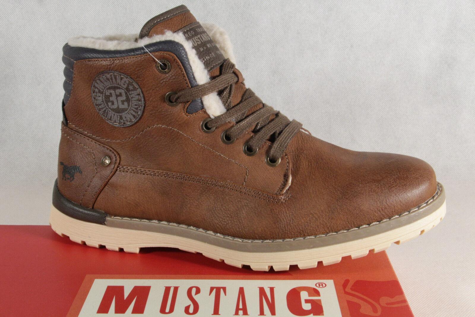 Mustang Stiefel braun Boots Schnürstiefel Winterstiefel braun Stiefel  4092 NEU b2de13