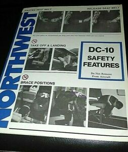 NORTHWEST AIRLINES SAFETY CARD--DC9-10
