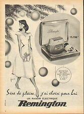 Publicité  --  rasoir electrique REMINGTON