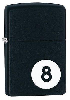 """Zippo """"8-Ball-Billiards"""" Black Matte Finish Lighter, Full Size, 28432"""