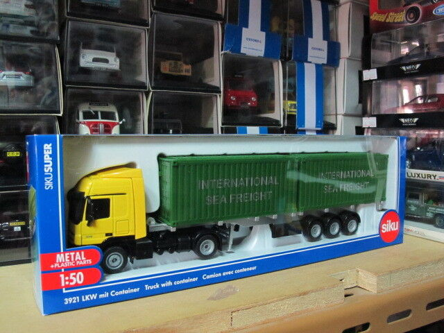 Mercedes Benz actros container truck trailer 1 50 siku 3921 free shipping
