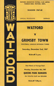 Football ProgrammegtWATFORD v GRIMSBY TOWN Dec 1967 - Swindon, United Kingdom - Returns accepted Most purchases from business sellers are protected by the Consumer Contract Regulations 2013 which give you the right to cancel the purchase within 14 days after the day you receive the item. Find out more about  - Swindon, United Kingdom