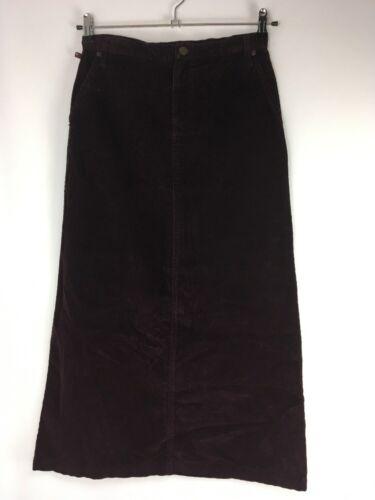 Ralph Lauren Polo Jeans Long Maxi Skirt sz 2 Cord