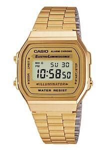 Orologio-CASIO-Watch-Unisex-A168WG-9EF-Acciaio-PVD-oro-dorato-Vintage