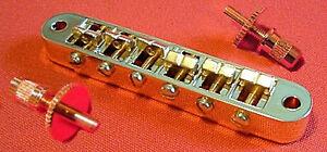 Actif Guitar Parts Tune-o-matic Bridge Tuneomatic-nashville Style Avec Bague-or-afficher Le Titre D'origine