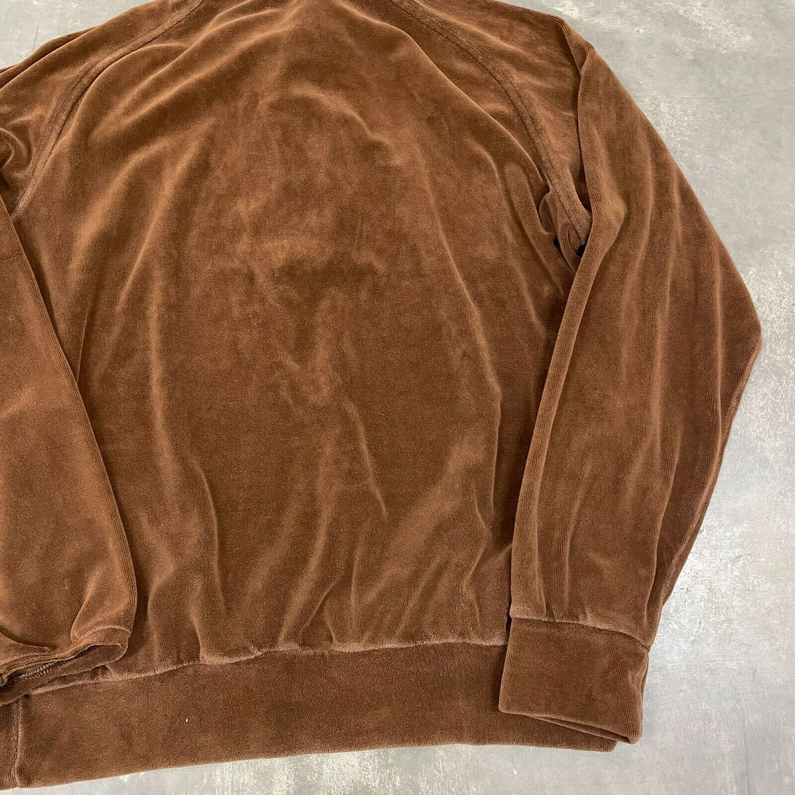 70s VTG Brown Velour Polo Pullover Sweater Cool X… - image 10