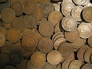 LARGE-COLLECTION-OF-INDIAN-HEAD-CENT-PENNY-COINS-1858-1909-OLD-ESTATE-SALE