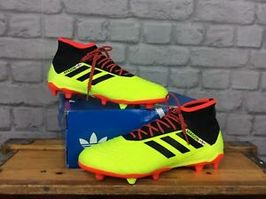 98528a9c6eee ADIDAS MENS UK 9 EU 43 1 3 18.2 FG YELLOW BLACK RED FOOTBALL BOOTS ...