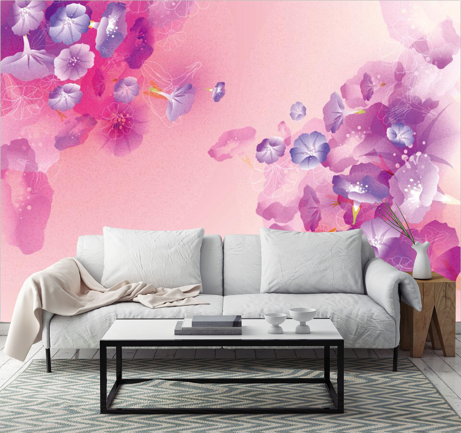 3D Fantastic flowers 22 Wall Paper Print Wall Decal Deco Indoor Wall Murals
