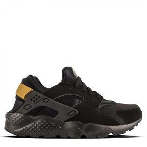 buy popular 18e48 04925 Details about Juniors NIKE HUARACHE RUN GS Black Trainers 654275 021