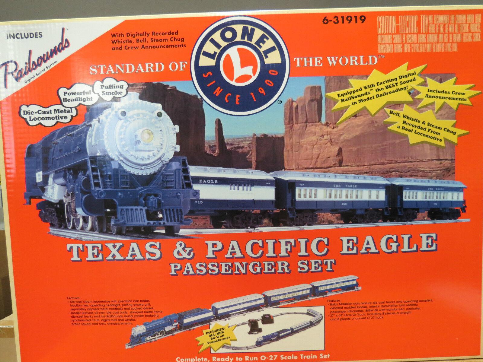Lionel Very  Rare Texas & Pacific Eagle Passenger Set W  RS, 6-31919, Mint C-10  ordina ora con grande sconto e consegna gratuita
