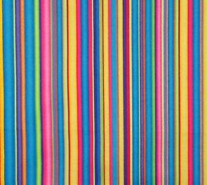 Teal-Yellow-Lime-Purple-Pink-Red-Stripe-Cotton-Fabric-Wilmington-By-The-Yard