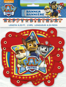 Image Is Loading PAW PATROL HAPPY BIRTHDAY BANNER Party Supplies Hanging