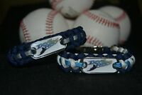 Tampa Bay Devil Rays Paracord Bracelet W/ Mlb Dog Tag And Metal Buckle Awesome