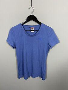 THE-NORTH-T-Shirt-Tamano-FACE-Medio-Azul-Excelente-Estado-Para-Mujer