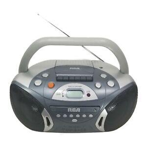 RCA RCD152E Portable Boombox CD Cassette Player Recorder FM/AM Radio TWIN BASS