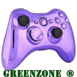Remplacement Chrome Violet Controller Shell + Buttons Mod Kit Pour Xbox 360-afficher Le Titre D'origine P2sqq4jb-07180021-785514735