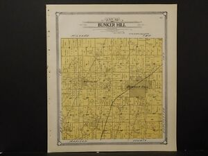 Bunker Hill Illinois Map.Illinois Macoupin County Map 1911 Township Of Bunker Hill L2 19