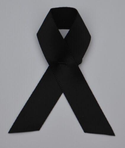 Kondolenz schleife 2 x Trauerschleife Aids Beileid Anstecker Trauer flor