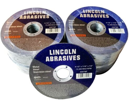 """100 Pc 4-1//2/"""" x 1//16/"""" x 7//8/"""" Cut off Wheels Stainless Steel Metal Cutting Discs"""