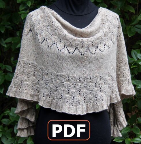 Hand Knitted Louden Shawl PDF Pattern electronic file