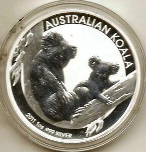 Australia-2011-1-Dollar-1-OZ-Silver-Pure-Koala